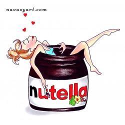 Happy with Nutella